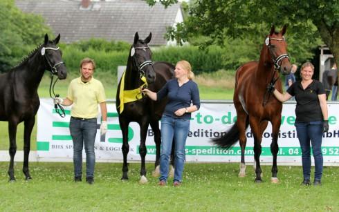 Siegerfamilie 2017 aus der Zucht von Hermann und Nadine Heimsoth, Völkersen.